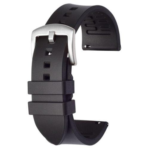 black rubber watch band strap