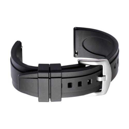 black rubber watch strap band