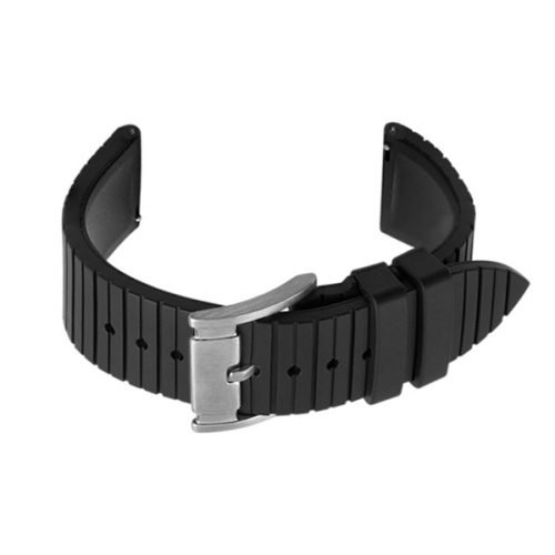 black rubber strap watch bands