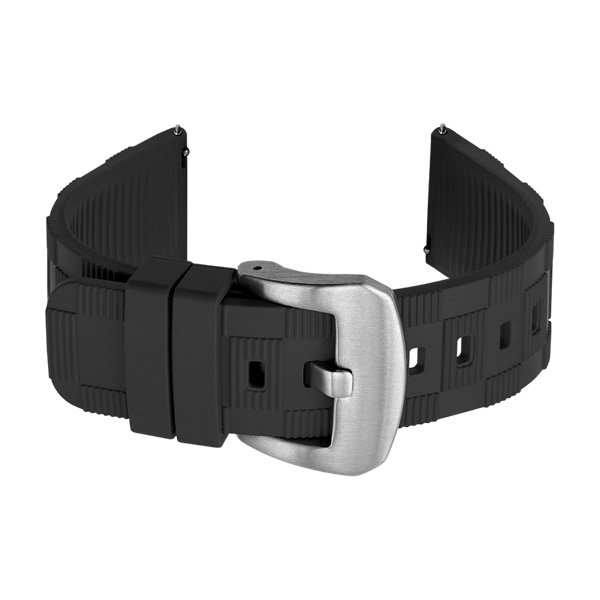black watch band rubber straps