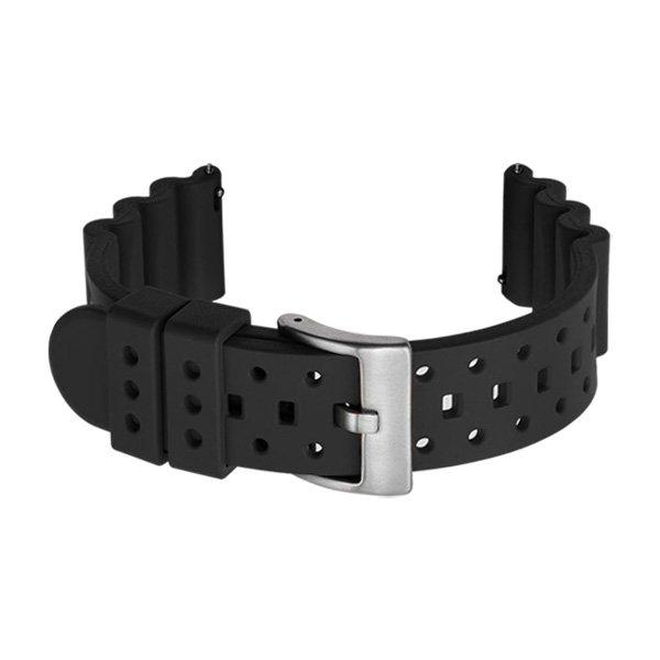 black rubber dive watch strap
